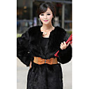 Elegant Long Sleeve Faux Fur Career/Party Coat