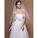 Two-tier Elbow Wedding Veils With Cut Edge (More Colors)