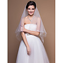Simple One-tier Elbow Wedding Veils With Cut Edge (More Colors)