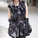Elegant Collarless Fox Fur Party/ Career Vest