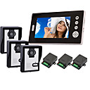 "2.4GHz Wireless 7"" LCD Monitor Home Security Video Door Phone and Intercom System(3 Camera)"