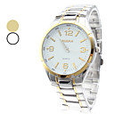 Unisex Simple Design Alloy Analog Quartz Wrist Watch (Assorted Colors)