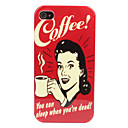 Case Dura para iPhone 4/4S - Mulher e Caf