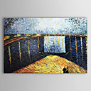 Hand-painted Oil Painting on Starry Night over the Rhone Landscape Vincent Van Gogh
