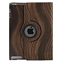 Wood Grain Pattern PU Leather Case with Stand for iPad 2 and the New iPad (Assorted Colors)