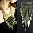 Women's Rivet Tassels Necklace