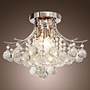 MACLENNAN - Lustre Cristal Cromado com 3 Lmpadas