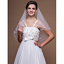 Elegant One-tier Elbow Wedding Veils With Scalloped/Pencil Edge (More Colors)