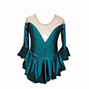 Mdchen Eiskunstlauf Kleid (Dark Green)