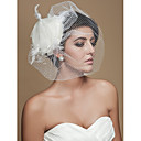 Gorgeous Tulle With Beading/ Feather Wedding Bridal Veil/ Headpiece