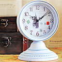 Country Style Metal Table Clock