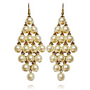 Women's Elegant Diamond Pearl Earrings