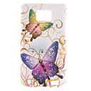 Colorful Butterfly Pattern Hard Case mit Diamond für Samsung Galaxy S2 I9100