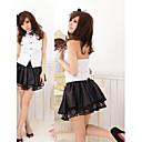 Sexy Black and White Polyester School Uniforms (2 Pieces)