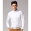 GOODFUTURE-Men's 100%Cotton Wash-and-wear Shirt(White)