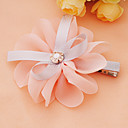 Handmade Pink and Gray Organza 9.5cm Bow Sweet Lolita Headdress