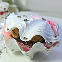 Beautiful Seashell Candy Shaped Favor Holder - Set of 6 (More Colors)