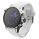 Rubber Band LED Wrist Watch(White)