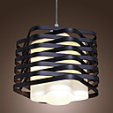 60W Flush Mount in Black Plait Lampshade