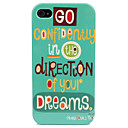 Etui Rigide Motif Mots pour iPhone 4/4S