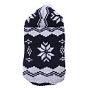 Warm Snowflake Pattern Sweater with Cap for Dogs Cats (Random Color,XS-XL)