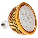Dimbare E27 7W 630-700LM 6000-6500K Natural White Light Golden Shell LED Spot lamp (85-265V)