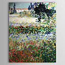 Hand-painted Garden in Bloom,Arles,c.1888 by Vincent Van Gogh Oil Painting  with Stretched Frame