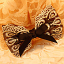 Women's Peacock Lace Bow Hair Clip