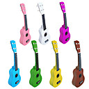 Basswood Soprano Ukulele with Strings/Picks (Multi-color)
