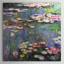 Hand-painted Oil Painting Water Lilies Claude Monet with Stretched Frame
