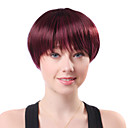 Capless Short Brown Straight Hot Sale High Quality Synthetic Japanese Kanekalon Wigs