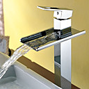 Contemporary Single Handle Waterfall Bathroom Sink Faucet(Chrome Finish)Tall