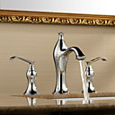 Sprinkle by Lightinthebox - Solid Brass Chrome Finish Two Handles Widespread Bathroom Sink Faucet