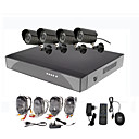 8 Channel Surveillance Security System 4 Outdoor Warterproof Camera Night Vision
