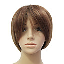 Capless 100% Human Hair Deep Auburn Short Straight Hair Wig