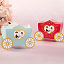 Cute Carriage Shaped Favor Boxes - Set of 12 (More Colors)