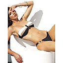 Women's Fashion Lovely Buckle Black Swimwear