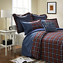 Flannel Plaid Jacquard Twin / Queen / King 3-Piece Duvet Cover Set