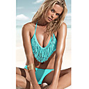 Women's V Neck Lovely Blue Acacia Swimwear