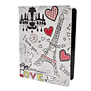 Eiffel Tower Motif Housse en cuir PU avec support pour iPad 2, iPad L'iPad 4 et New