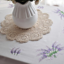 Classic Polyester Cotton Purple Floral Table Cloths