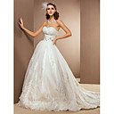 Ball Gown Sweetheart Corte dei treni organza abito da sposa