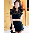 Women's Organza Cutwork Mini Dress