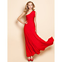 TS One Shoulder Tassels Maxi Dress
