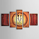 Hand-painted Oil Painting People Abstract With Stretched Frame Set of 5 1302-PE0208