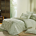 Aileen Jacquard Full / Queen 4-Piece Duvet Cover Set