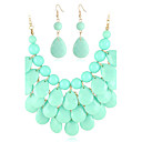 Gorgeous Alloy With Acrylic Women's Jewelry Set Including Necklace,Earrings