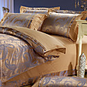 Carter Jacquard Full / Queen 4-Piece Duvet Cover Set