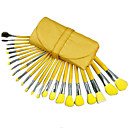 23Pcs Special Yellow Beautiful Makeup Brush Set