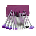 16Pcs Elegant Makeup Brush Set with Purple Bag